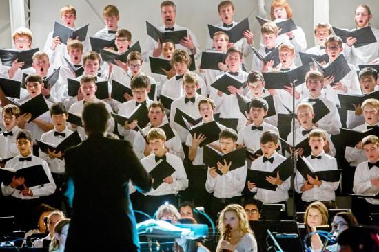 gym mens choir singing